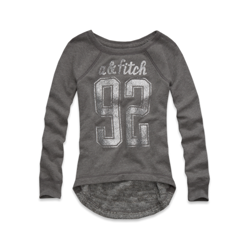 girls varsity number sweatshirt