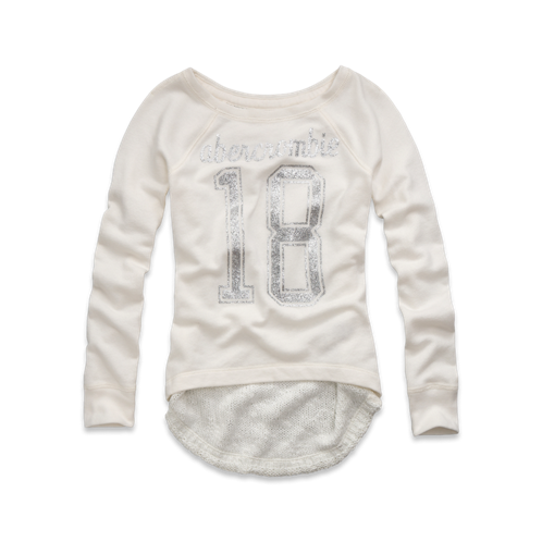 tops varsity number sweatshirt