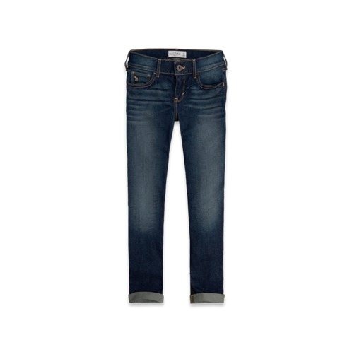 bottoms a&f midcalf crop jeans