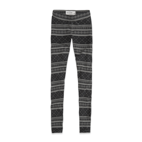 girls a&f high rise pattern leggings
