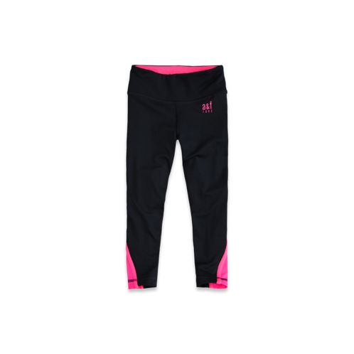 girls a&f active cropped legging
