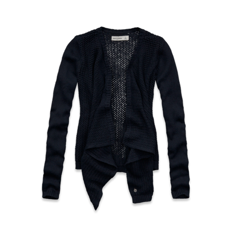 girls open stitch non closure sweater