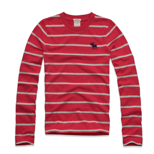 guys striped long sleeve tee