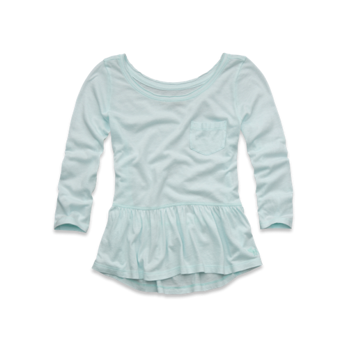 tops easy peplum top