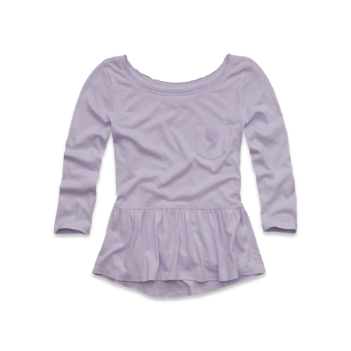 girls easy peplum top