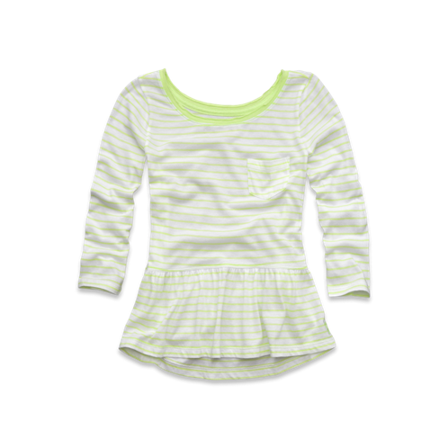 tops striped easy peplum top