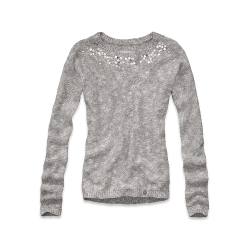 girls shine sequin sweater