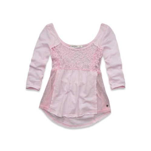 girls lace babydoll top