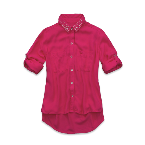 girls shine collar shirt