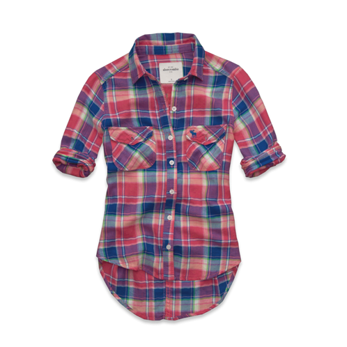 girls classic plaid shirt