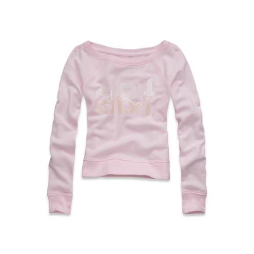 girls sequin off the shoulder sweatshirt