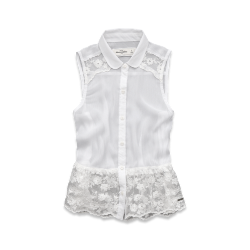 girls pretty lace shirt