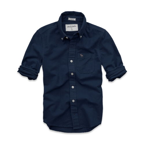 guys solid oxford shirt