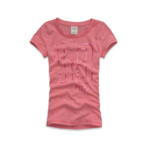 girls tonal sequin logo tee