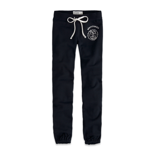 bottoms a&f banded sweatpants