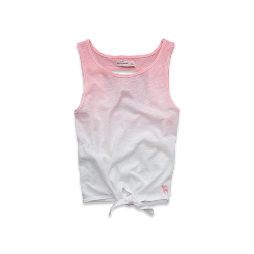 girls dip-dyed cropped tank
