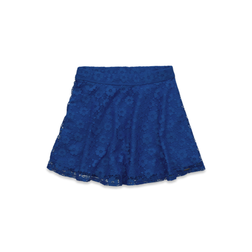 girls a&f high rise lace skater skirt
