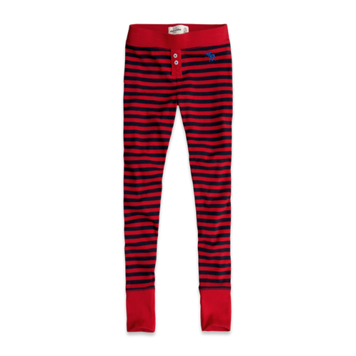 girls striped sleep leggings