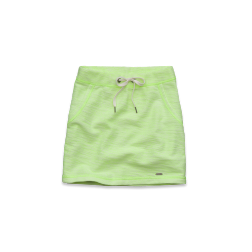 girls natural waist sporty knit slim skirt