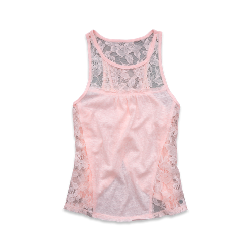 girls shimmering lace top