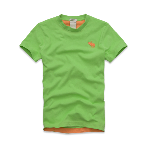 tops pop-color tee