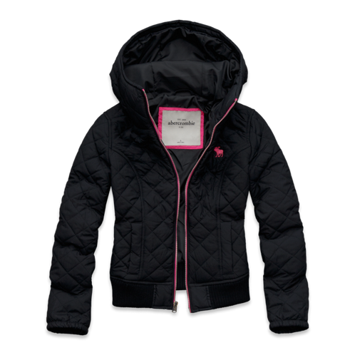 girls quilted bomber jacket