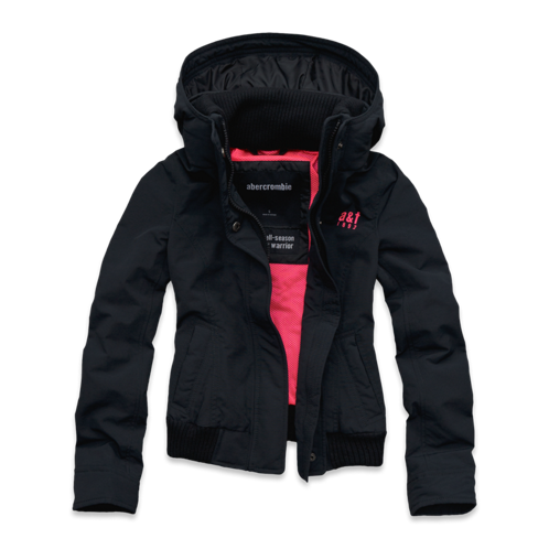 girls a&f all-season weather warrior bomber