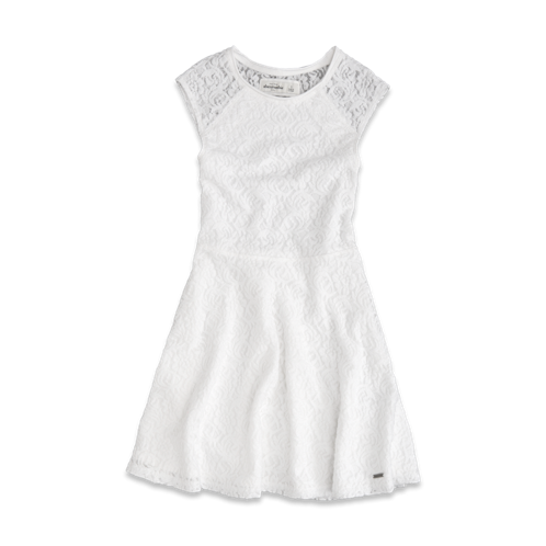 girls lace skater dress