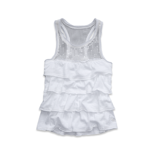 girls shine ruffle tank