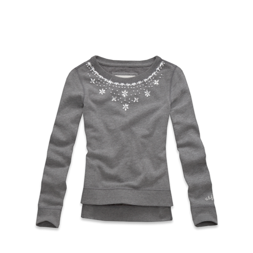 girls shine necklace sweatshirt