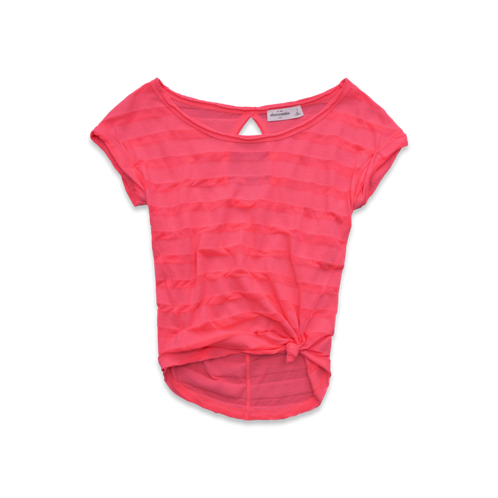 girls striped burnout tee