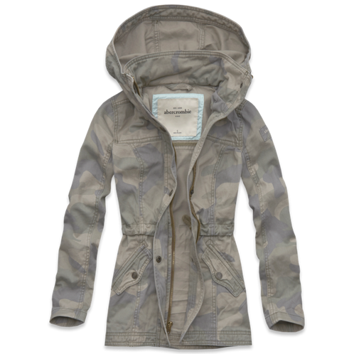 girls camo twill jacket