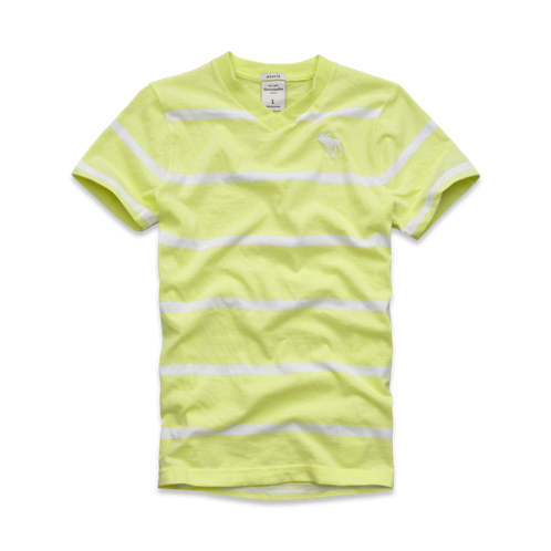 tops striped vneck tee