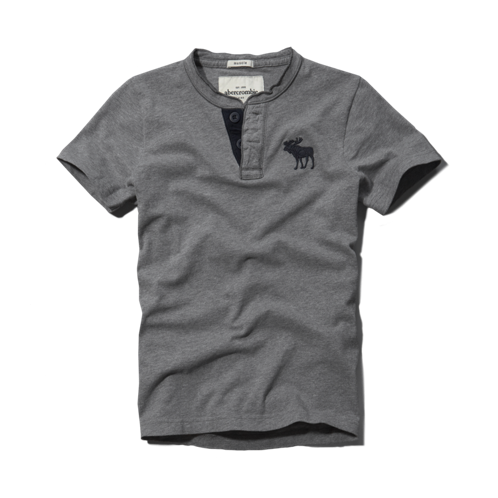 guys contrast color henley