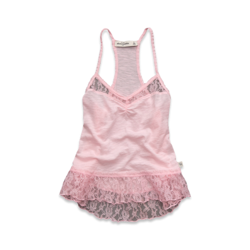 girls lace peplum cami