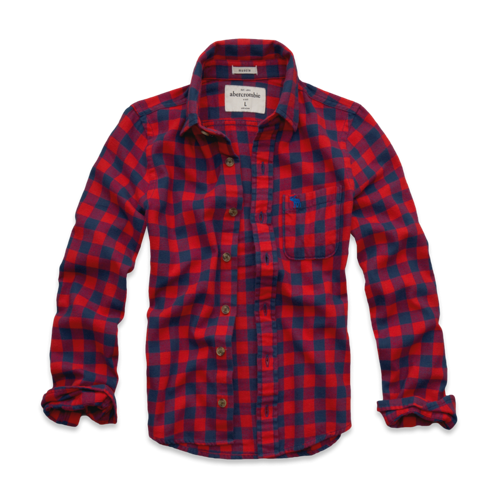 tops checked flannel shirt