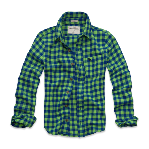 boys warm classic flannel shirt