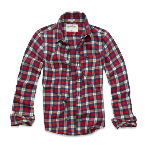 guys warm classic flannel shirt