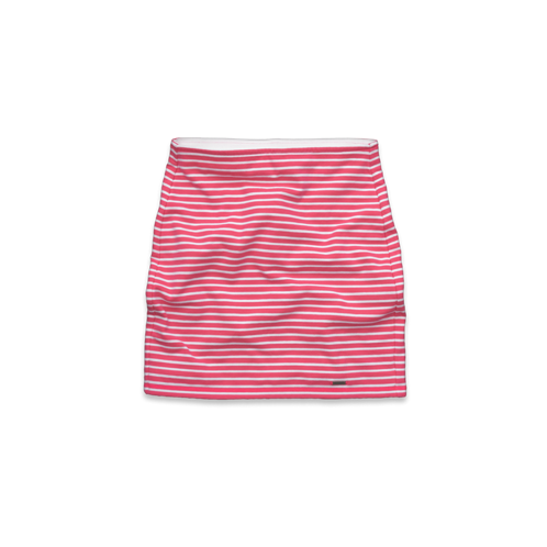 girls high rise striped knit slim skirt