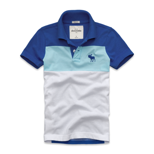 guys tri-color polo