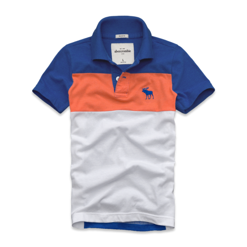 tops tri-color polo