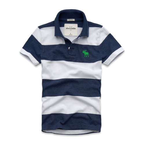 guys classic striped polo