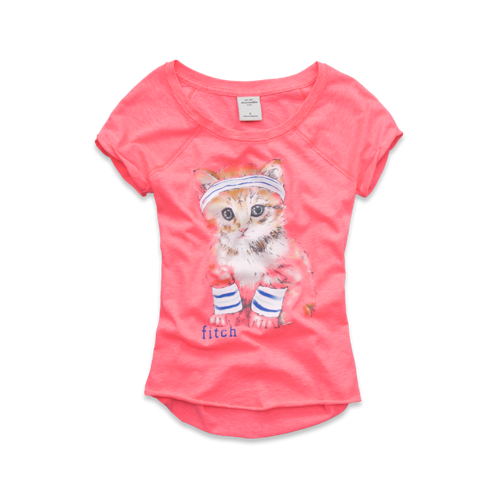 girls cute graphic tee