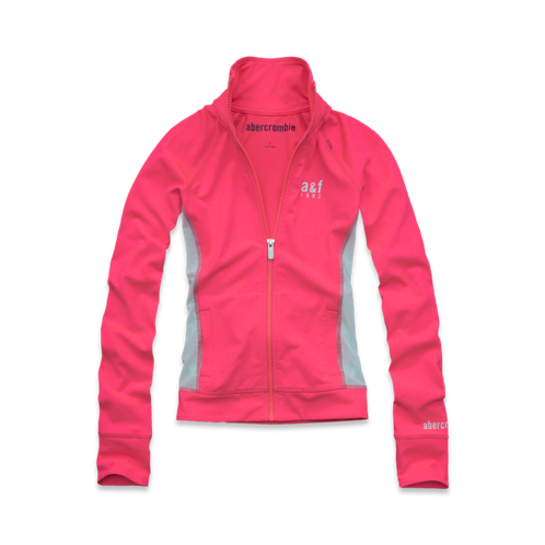 girls a&f active full-zip