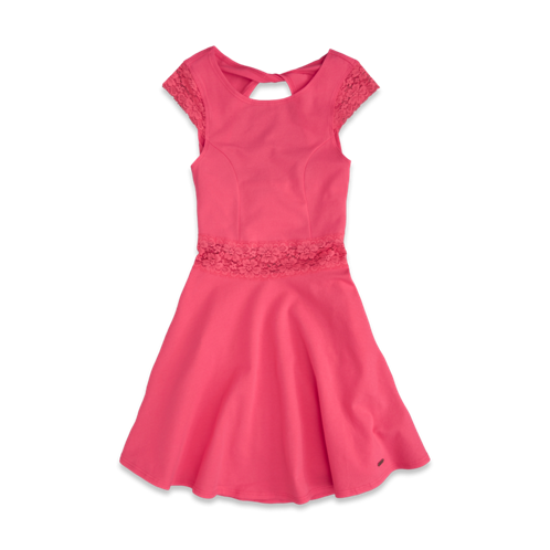 girls pretty lace skater dress
