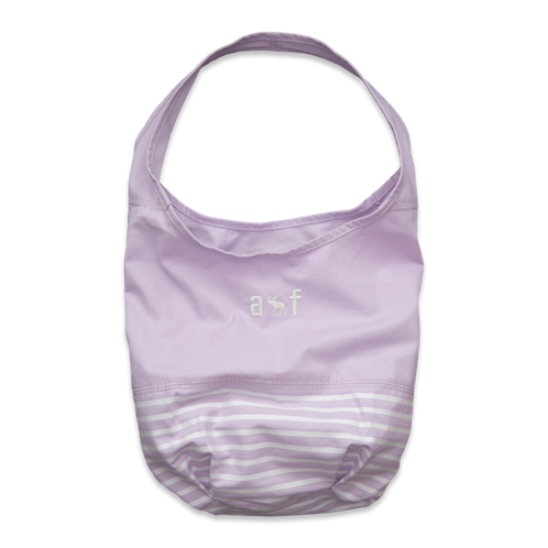 girls shine stripe beach tote