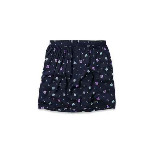 girls natural waist floral skirt