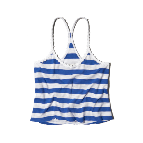tops striped swing cropped cami
