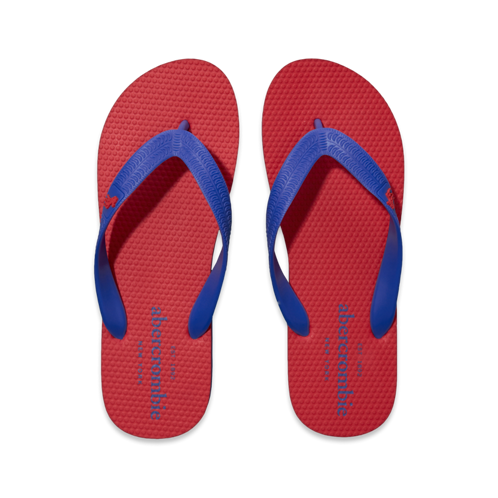 guys contrast color flip flops