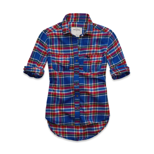 tops cozy flannel shirt